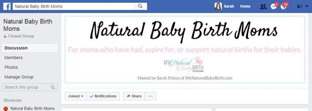 Natural Baby Birth Moms