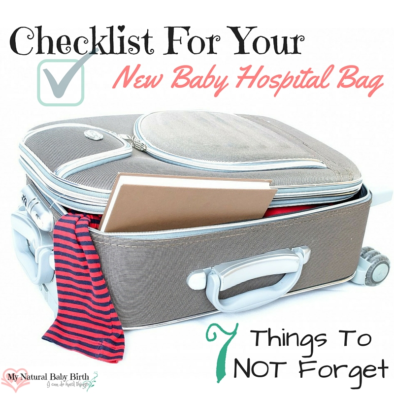 My Latest Article On Things: Checklist For Your New Baby Hospital Bag
