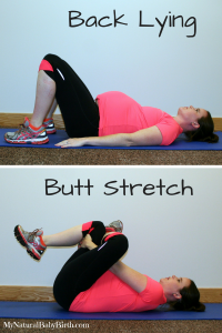 Back Lying Butt Stretch