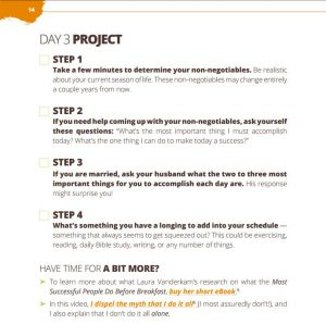 Make Over Your Mornings Course Workbook Checklist