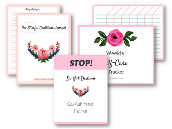 Blissful Intent Personal Care Printable Pack
